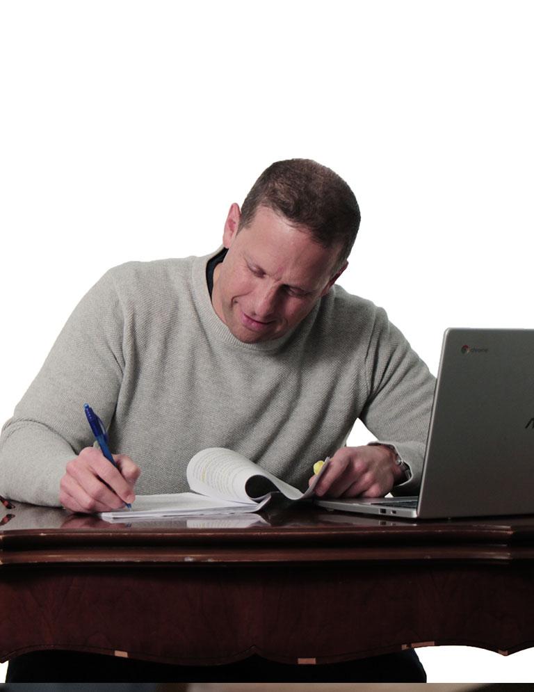 A man writing image